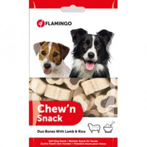 FLAMINGO - Duo Bones With Lamb&Rice - CHEW'N SNACK BONES DUO 150 G
