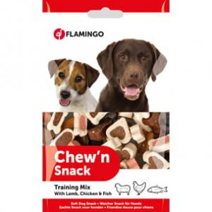 FLAMINGO - Meat Mix Lamb&Chicken&Fish - CHEW'N SNACK TRAINING MIX 150 G