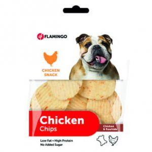 FLAMINGO - Chicken&Rawhide - RAWHIDE CHIPS WITH CHICKEN 85 GR