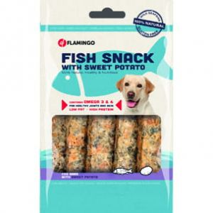 FLAMINGO - Fish & Sweet Potato - FISH SNACK 90 GR