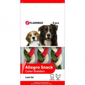 FLAMINGO - Dental Care & Chicken - DOG SNACK BRAIDED 90 GR
